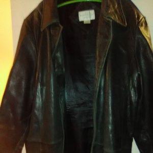 Worthington Genuine Lambskin Leather Coat Women's
